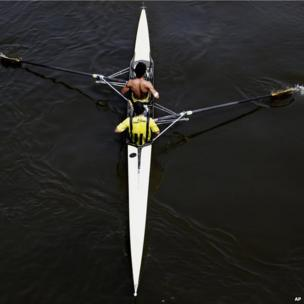 Egyptians paddle in a boat along the Nile river in Cairo, Egypt, on 12 September 2013