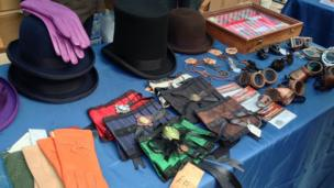 A stall with steampunk goodies