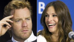 Ewan McGregor and Julia Roberts attend a news conference for the film August: Osage County