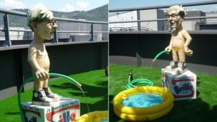 Warhol pool boy watering