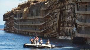 The wreck of the Costa Concordia