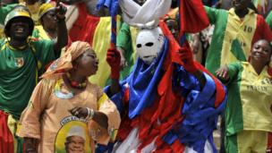 People dressed up at the inauguration ceremony of Mali's President Ibrahim Boubacar Keita - - Thursday 19 September 2013