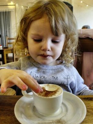 Girl and a cup of coffee