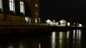 Penarth Pier by night