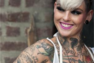 A tattoo enthusiast