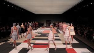 Models at Paris Fashion Week
