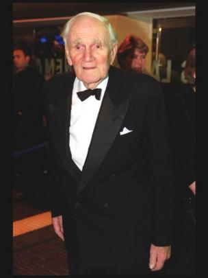 Desmond Llewelyn arrives at the European Premiere of the latest James Bond film, The World Is Not Enough, at the Odeon Leicester Square Monday 22nd November 1999