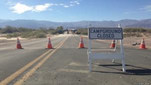 Campsite closed sign US shutdown. Photo: Alexia Rogers-Wright
