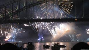 Sydney Harbour Bridge fireworks. Photo: Darren Swanson