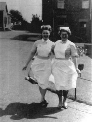 Nurses at the isolation hospital