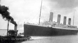 Titanic leaving Southampton
