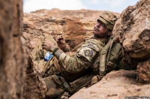 A soldier from the Princes of Wales's Royal Regiment in Kenya