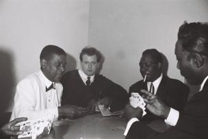 Brian Smith with Cousin Joe, Otis Span and Muddy Waters at the Twisted Wheel, 1964