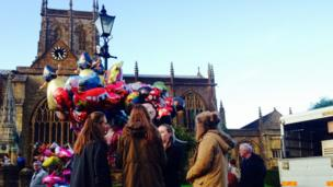 Sherborne Abbey on Pack Monday 2013