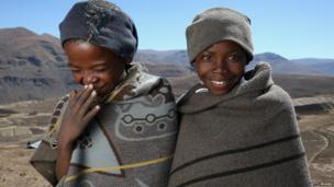 Boys in Lesotho who will be attending Sentebale's new Herd Boy School in Mateanong - Monday 14 October 2013