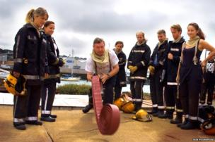 Candidates during fire training