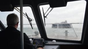 Passenger boat to No Man's Land Fort