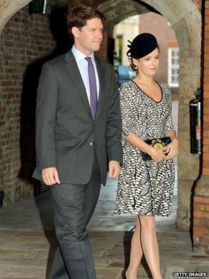 Emilia Jardine-Paterson with husband David