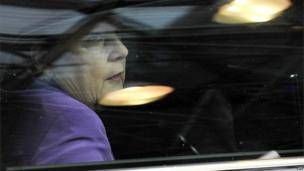 German Chancellor Angela Merkel arrives for an EU summit meeting, 25 October 2013