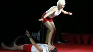 Tumble Circus performed in Belmont Park in east Belfast