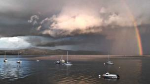 Mike Hackett from Birmingham was on holiday in north Wales when he took this image of the estuary at Aberdyfi.