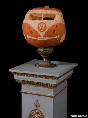 A VW Campervan pumpkin