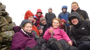 People on Beinn na Lap