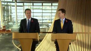 David Cameron and Nick Clegg