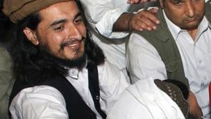 Hakimullah Mehsud in a news conference in South Waziristan in this May 2008 file photo