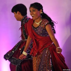 Dancer at Diwali celebrations