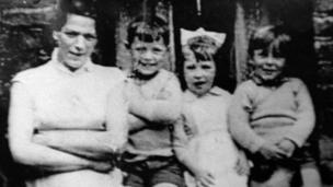Jean McConville with three of her children