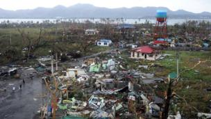 Devastation in Tacloban after Typhoon Haiyan