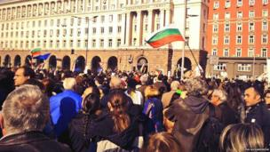Thousands of students protest against the government in Sofia, Bulgaria. Photo: Eva Alexandrova