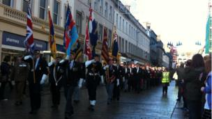 Remembrance Day parade in Dundee
