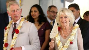The Prince of Wales and the Duchess of Cornwall at a synagogue