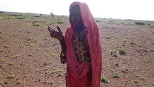 A woman in Puntland who lost 90 goats in the floods