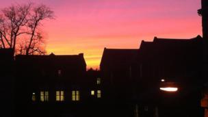 Sunset over Fife