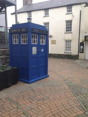 Doctor Who's Tardis in Holyhead