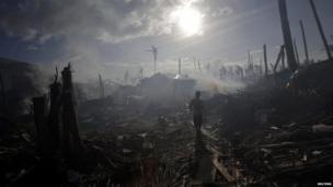 Typhoon aftermath in Tolosa, Philippines, 16 Nov