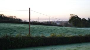 A frost in Chepstow, Monmouthshire