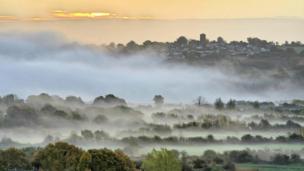 Fog over the River Usk