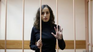Faiza Oulahsen held in custody in the northern city of St Petersburg
