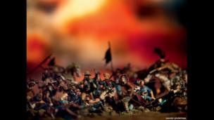 Custer's Last Stand from the series Wild West, 1987-9.