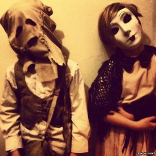 Children in masks