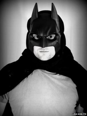 Man dressed as Batman