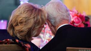 Hillary and Bill Clinton at the Smithsonian National Museum of American History in Washington