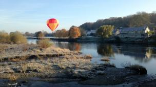 Balloon at Glasbury-on-Wye, Powys