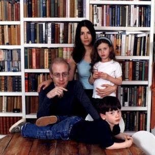 Journalist John Diamond, who was diagnosed with cancer, and his family. From Inside Story: John Diamond: Tongue Tied Update 1999