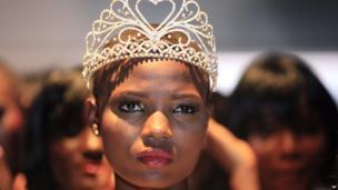 Model Cynthia Abdulahi in Lagos, Nigeria - Sunday 24 November 2013