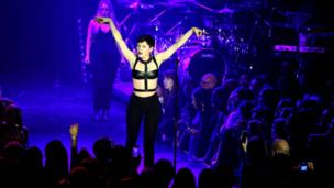 Jessie J performs during the Capital Rocks charity evening held at The Roundhouse, Camden, London.